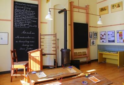 Impressie van Kinderboekenmuseum Het Schooltje van Dik Trom
